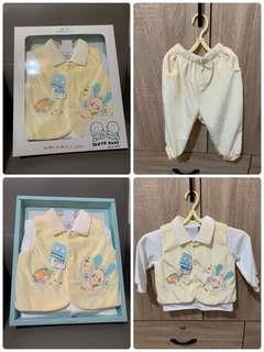 🚚 (秋冬)黃兔兔三件式套裝