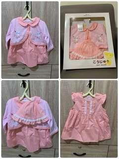 🚚 (夏季)粉兔裙套裝+帽子