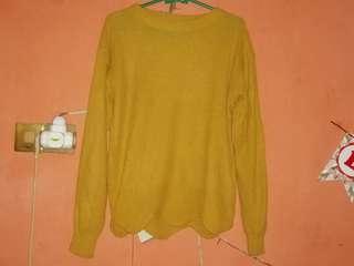 Sweater Rajut Knit Mustard