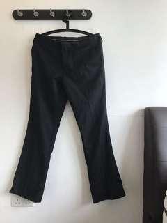 Black Flared Trousers W31