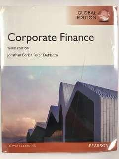 Corporate Finance (third edition), Global Edition by Jonathan Berk and Peter DeMarzo - Finance Textbooks