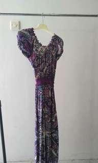 Mididress Batik Purple
