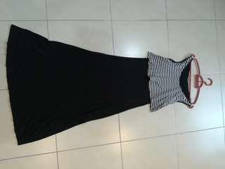 Zara's black long dress