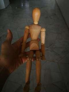 Wooden toy doll