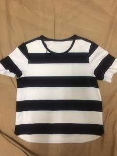 STRIPE TOP SHORTSLEEVE