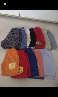 Shorts and sleeveless shirt