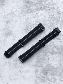 [Last Batch!] PVD Black MN French military Parachute Lugran Erika Original Style Elastic Strap Watch 20mm Marine Nationale