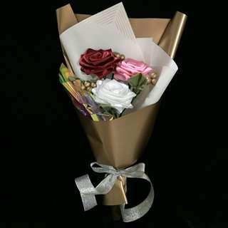 Flower Bouquet Ribbon Rose Graduation Bouquet