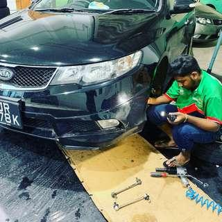 Stabilizer link replacement Kia Cerato forte