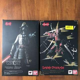 🚚 Bandai Movie Realization Darth Vader and Spider-Man