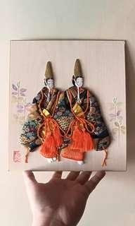 Japanese painting two women portrait
