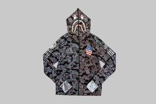 Bape x adidas super bowl shark hoodie