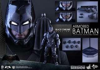 HOTTOYS 限定 MMS356 Batman (Black Chrome Version)