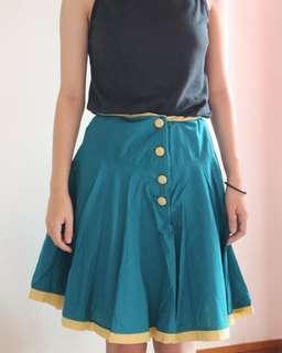 Rok retro kancing   button skirt