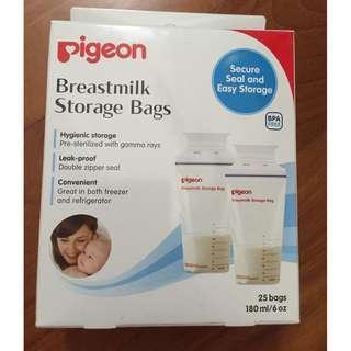 Pigeon milk storage bags