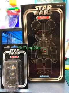 Bearbrick Darth Vader 400% + 100% #Star Wars #星球大戰 #Medi Com Toy #黑兵