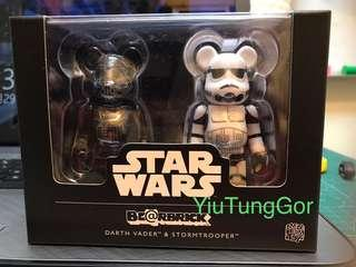 Bearbrick Darth Vader & Stormtrooper 100% Set #Star Wars #StarWars #Medi Com Toy #黑兵 #白兵