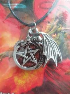 Solid Pewter Handcrafted Dragons Pendent