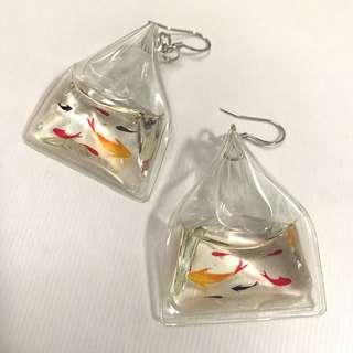 金魚手作耳環