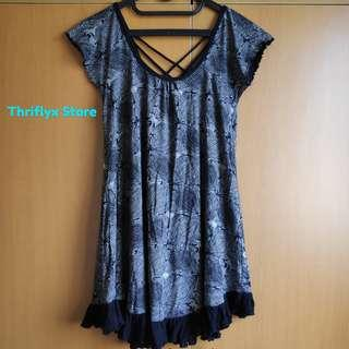 Dress motif, hitem putih | Back String