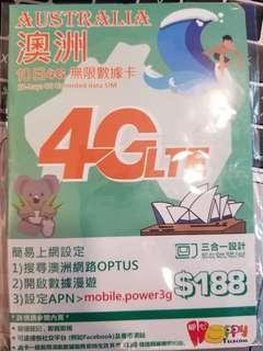 Happy Telecom 澳洲 4G 10日 無限數據卡