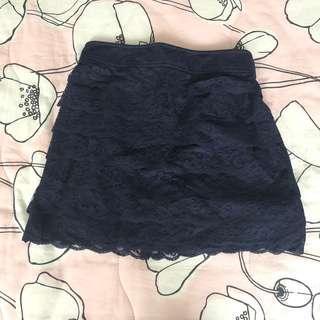 G2000 navy lace skirt (elastic waist)