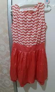 Orange Shiny Dress