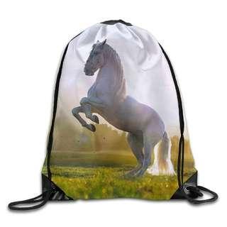 Training Gymsack Backpacks Horse Fashion Durable Polyester Drawstring Training Gymsack Sackpack For Home