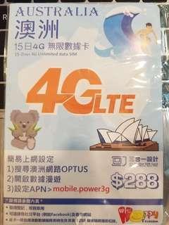 Happy Telecom 澳洲 4G 15日 無限數據卡
