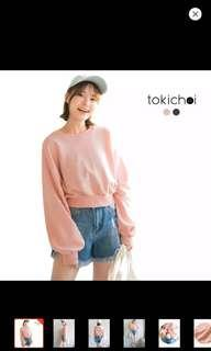 Brand new TOKICHOI-Oversize Sleeves Sweater -Pink