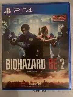 Biohazard RE2 中文 ps4