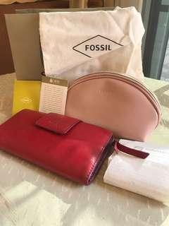 Fossil leather wallet (RFID protected)