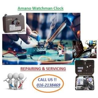 Amano Watchman Clock/Digital Guard Tour System Device- Services and Repairing Services