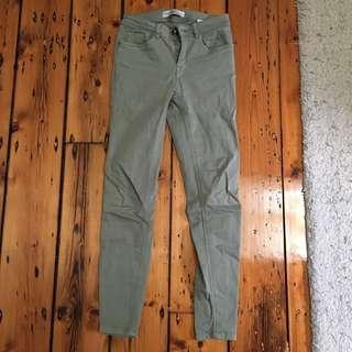 Zara Green Jeans EU34/AU6/XS