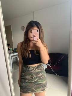 Forever 21 Army Skirt