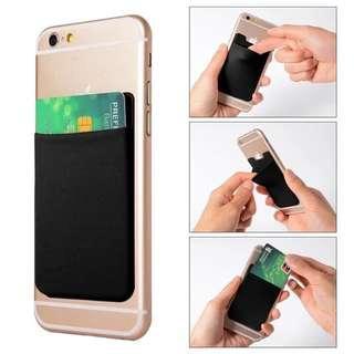 Sticky card holder untuk handphone