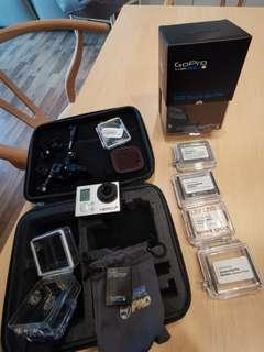 GoPro Hero 3+ Silver (Diving Ready, Underwater back case, LCD Touchscreen Bacpac) - Original Genuine GoPro