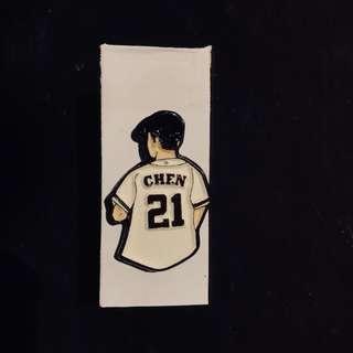 Chen enamel pin