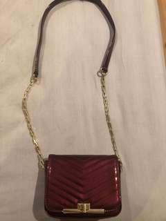 New look brand Maroon handbag