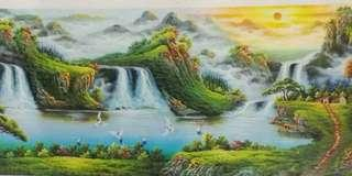 70*120cm unframed hand painted canvas oil painting