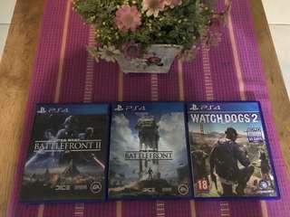 Watch Dogs 2, Star wars Battlefront 1 & 2