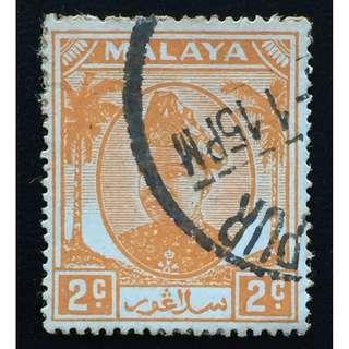 Malaya 1949 Selangor Sultan Hishamuddin Alam Shah 2c Used SG#91  Q183