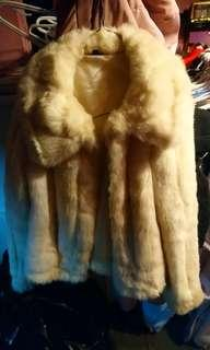 Fake fur coat xs