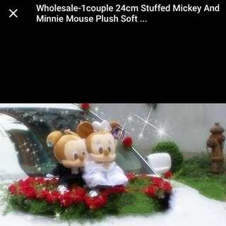 Mickey And Minnie Wedding Soft Toys