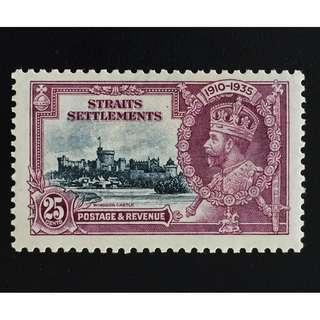 Malaya Straits Settlements 1935 Silver Jubilee 25c MH SG#259 Q166