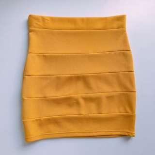 Mustard Panel Skirt #APR10