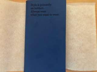 Pedro Navy Blue plain botebook