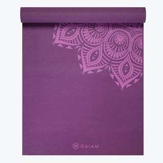 Gaiam Premium Purple Mandala Yoga Mat (6mm)