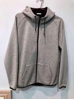 🚚 GU 棉質外套 灰 似Nike tech fleece