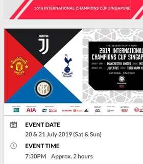 ICC 2019 SINGAPORE CAT 4 tickets at face value